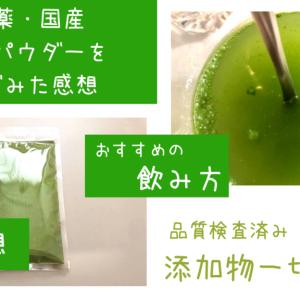【ブログ】栄養価オバケの明日葉のパウダーを青汁みたいにして飲んでいます。味の感想・おすすめの飲み方