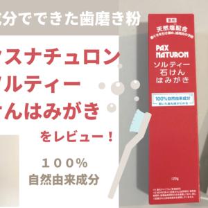 【ブログ】市販で買えるフッ素不使用の歯磨き粉 パックスナチュロンソルティをレビュー