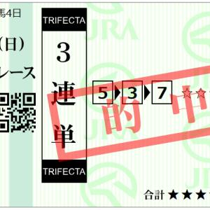 札幌1R 3連単ゲット!!