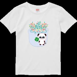 ぱんだ と 花 Tシャツ!