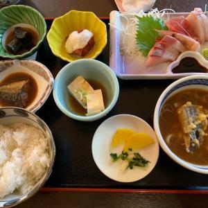 【食べ歩き】日替わりランチ 刺身盛り合わせ@さんらく 岐阜県 恵那市