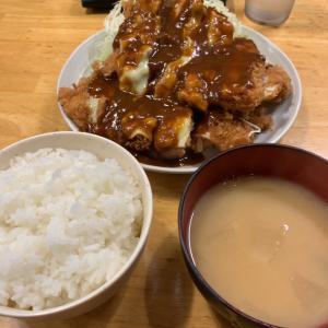 【デカ盛】チーズチキンカツ定食 L@洋食工房パセリ 名古屋市天白区