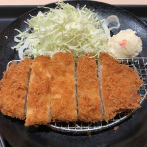 【食べ歩き】特朝ロースカツ定食@松のや 愛知県長久手市