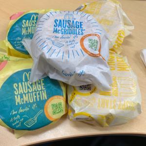 【食べ歩き】朝マック ハンバーガー 5個@マクドナルド 愛知県