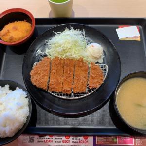 【食べ歩き】特朝ロースカツ定食 @松のや 愛知県長久手市