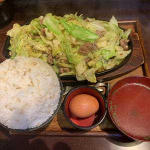 【食べ歩き-大盛】豚鉄板 2人前 ご飯特盛 @肉米雄一飯店 名古屋市中区