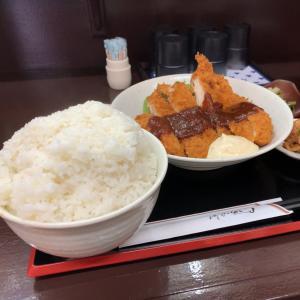 【デカ盛-2日目】チキンカツ定食 ライス大@遊食キッチン 馬鹿坊 愛知県日進市