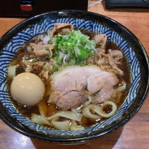 【うどん】肉うどん +味玉@肉うどん さんすけ 名古屋市中区