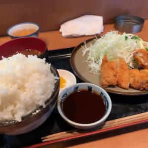 【食べ歩き】チキンカツ定食 ごはん超大盛@きっちん歩道橋 名古屋市昭和区