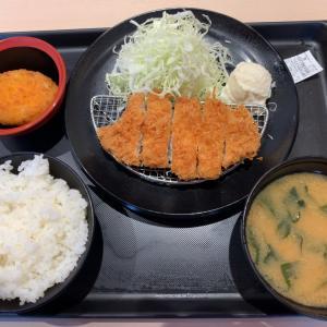 【食べ歩き】特朝ロースカツ定食 ご飯みそ汁お代わり自由@松のや 愛知県長久手市