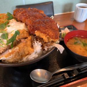 【デカ盛】ジャンボソースかつ&玉子とじカツ丼@信濃路 長野県伊那市