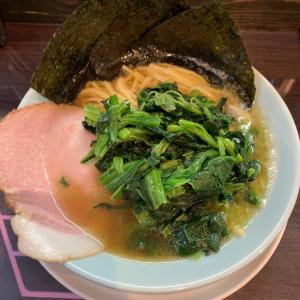 【ラーメン】ほうれん草ラーメン 大盛@麺屋 びっぷ 愛知県知多市