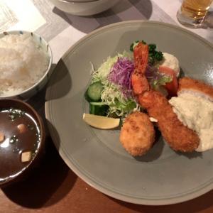 【食べ歩き】ミックスフライ定食 @カフェレスト  いのうえ 愛知県岡崎市