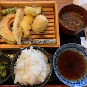 【食べ歩き】天ぷら定食 ミニそばセット@天ぷら酒場 KITSUNE 知立店 愛知県知立市