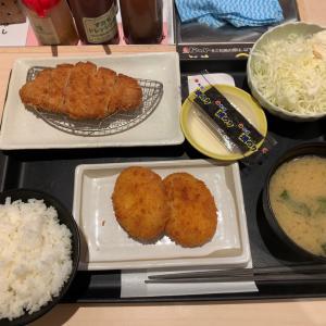 【朝ごはん】得朝ロースカツ定食 @待つのや