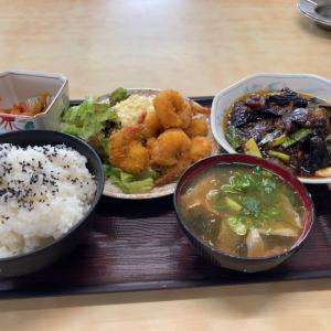 【定食屋】よりどり定食(エビフライ+麻婆茄子)@港湾食堂 愛知県蒲郡市
