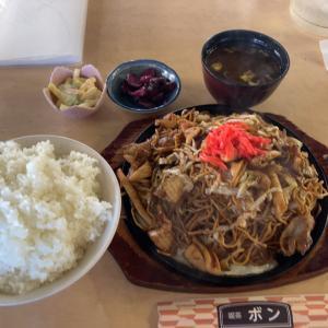 【食べ歩き】大盛焼そば定食 ご飯大盛@喫茶ボン 愛知県あま市