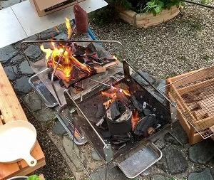 今朝もソラのコース色々。突然の庭BBQ。