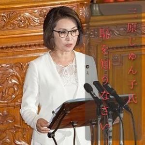 安倍首相への問責決議案「否決」三原じゅん子氏「野党の皆さん、恥を知りなさい。」