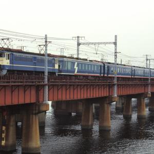 1986年和風客車「江戸」・配給列車クモヤ90 等