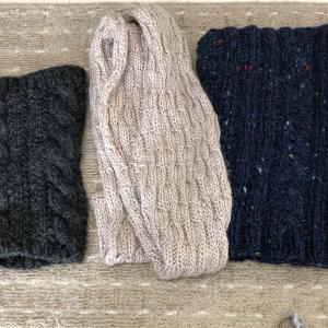 防寒対策と、編み物本