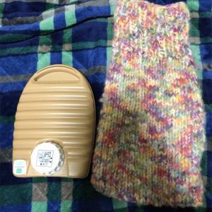 湯たんぽカバー編みました。
