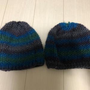 帽子編みました。