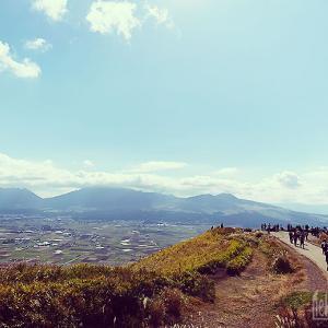 遠回りして阿蘇外輪山ドライブからの原尻の滝を経て帰路へ