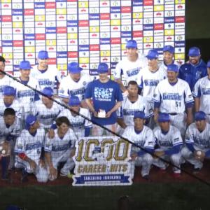 石川雄洋選手、1000本安打達成!!試合も勝利で飾り、同一カード3連勝!!首位巨人と0.5ゲーム差!!
