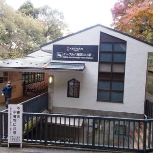 ケーブル八幡宮山上駅 京阪電気鉄道鋼索線