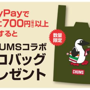 (第2段!)セブンイレブンで700円以上PayPay払いして、CHUMSのエコバッグをGet