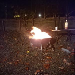 キャンプ最終夜。いろいろあったキャンプだったなぁ