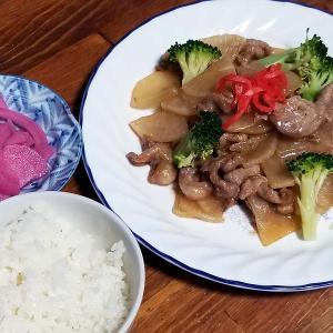 真似っこ料理で豚こま切れ肉と大根の甘辛炒めを作って本日の夕食なり。