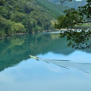 【旅173日目】最後の清流・四万十川を登る。とても綺麗な風情ある景色だった。