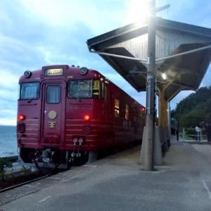 【旅174日目】宇和島を観光。海の傍の素晴らしい駅、下灘駅へ。