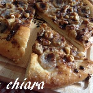 黒糖バナナのスイートピザ