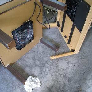 準備中&ガスファンヒーター・焼き芋鍋