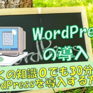 【ブログ副業最初の一歩】全くの知識0の初心者でも30分でWordPressを導入する方法