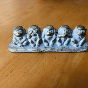 三猿から学ぶ。