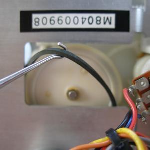 Nakamichi RX-505 コントロール・ベルトを取外す