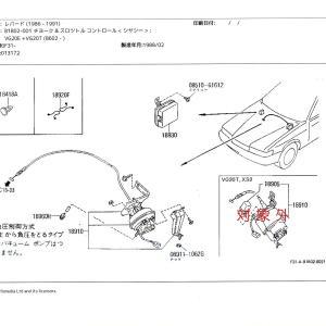 日産 LEOPARD メーカー修理部品の在庫確認