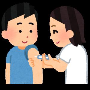 インフルエンザ予防接種、一回目終了