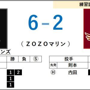 6/5【練習試合】vs ロッテ