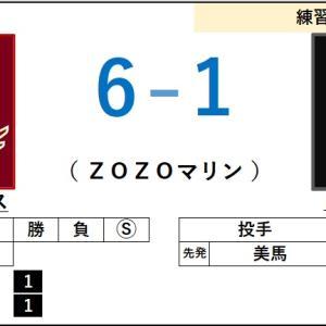 6/7【練習試合】vs ロッテ