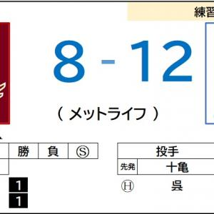 6/11【練習試合】vs 西武