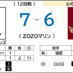 8/2【パリーグ公式戦】vs ロッテ(12回戦)