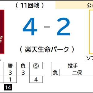 8/8【パリーグ公式戦】vs ソフトバンク(11回戦)