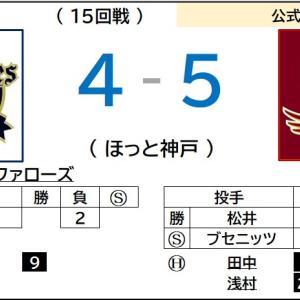 9/17【楽天イーグルス】vs オリックス(15回戦)