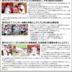 6/20【楽天イーグルス】公式戦 vs オリックス(11回戦)
