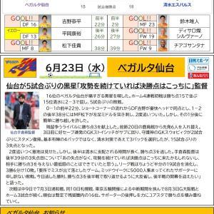 6/23【ベガルタ仙台】第19節 vs 清水エスパルス
